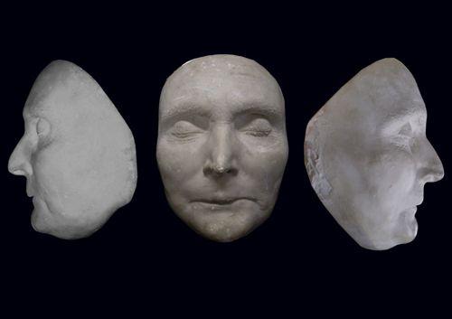 """Máscara mortuoria de Napoleón conocida como """"RUSI""""."""